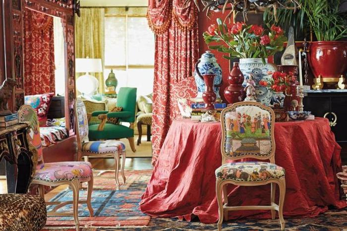 décoration tendance style maximaliste salon motifs orientals