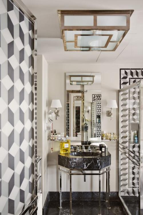 décoration tendance automne 2018 une salle de bain moderne