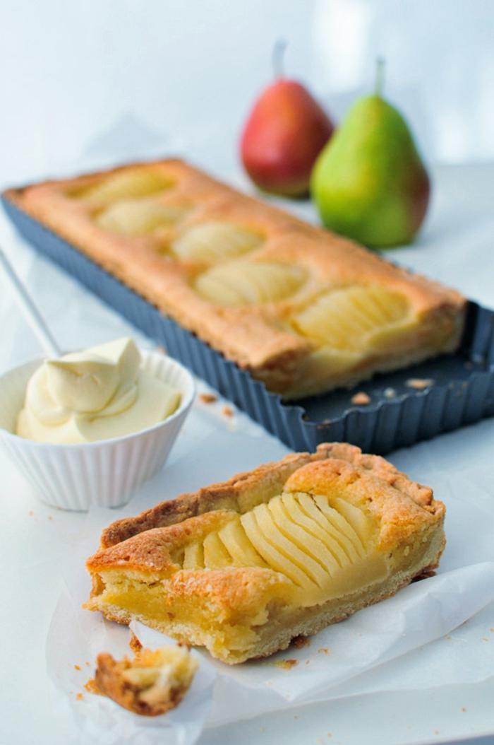 dessert tarte amandine aux poires