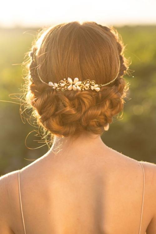 diadème mariage beau chignon en tresses