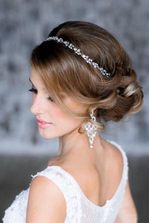 diadème mariage boucles d'oreille longues