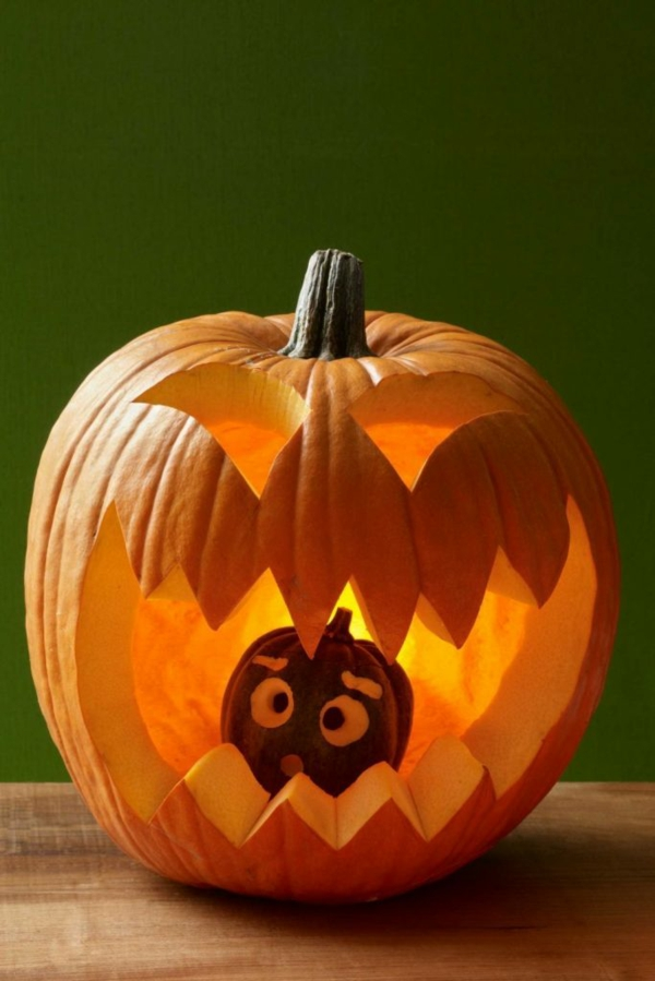 diy monstre creuser une citrouille pour halloween