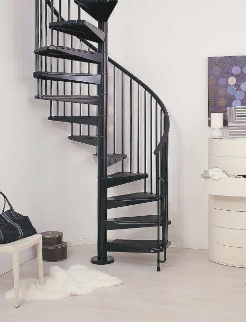 escalier hélicoïdal dans un angle