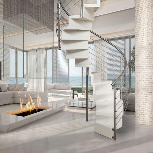escalier hélicoïdal logement moderne
