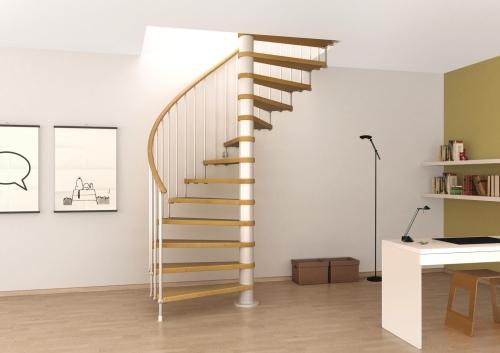 escalier hélicoïdal main-courante en bois