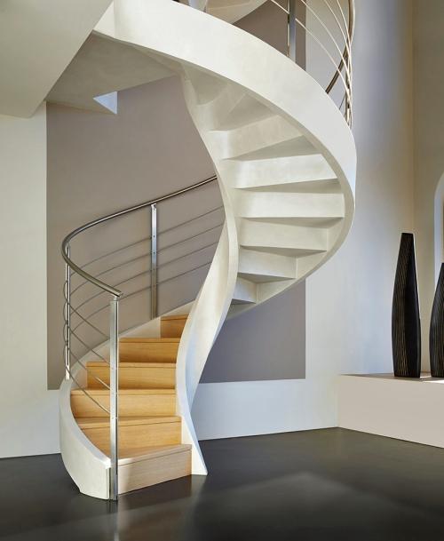 escalier hélicoïdal style moderne