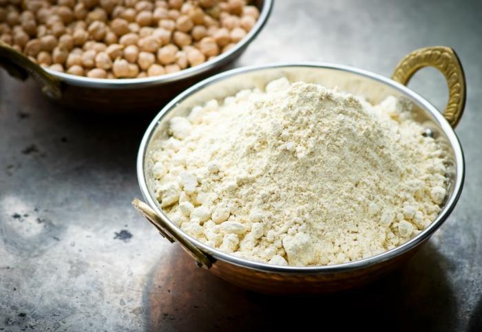 farine de pois chiches par quoi remplacer la farine de blé