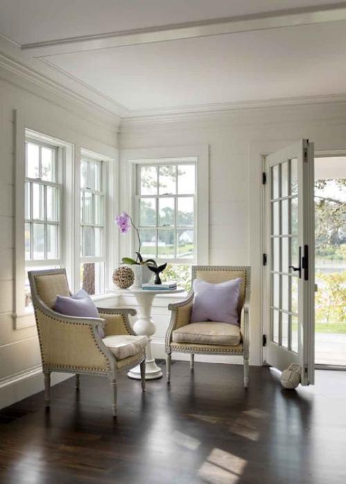 fauteuil relax deux coussins en lilas