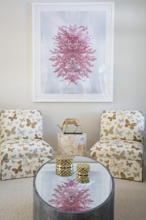 fauteuil relax joli tableau au mur
