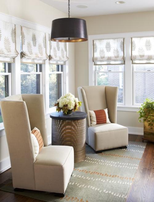 fauteuil relax murs aux fenêtres