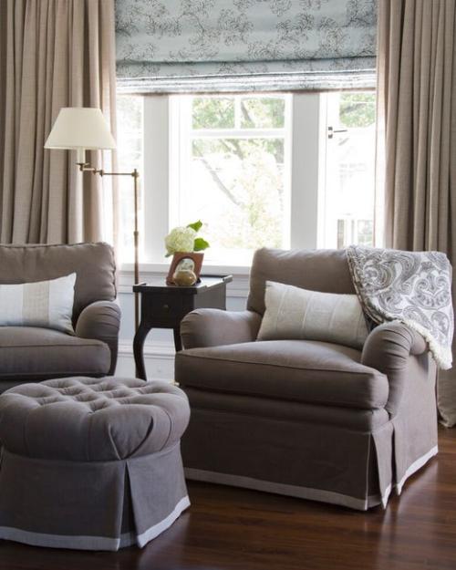 fauteuil relax un melange du gris et du beige