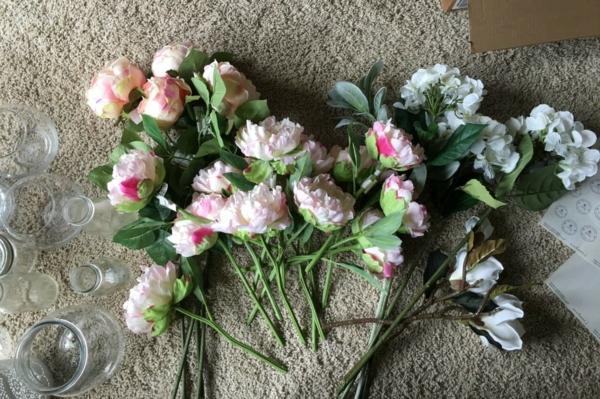 fleurs de soie bouquet de mariée artificiel