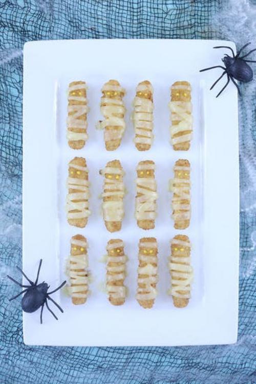 gâteaux Halloween des momies gardées d'araignées