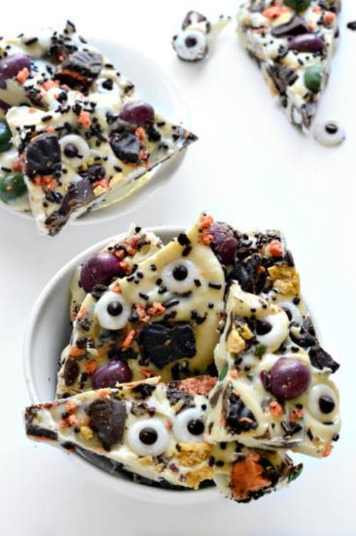 gâteaux Halloween des morceaux de pizza