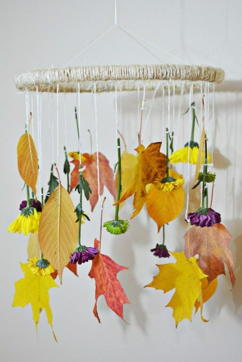 idée activité manuelle automne diy attrape-rêve