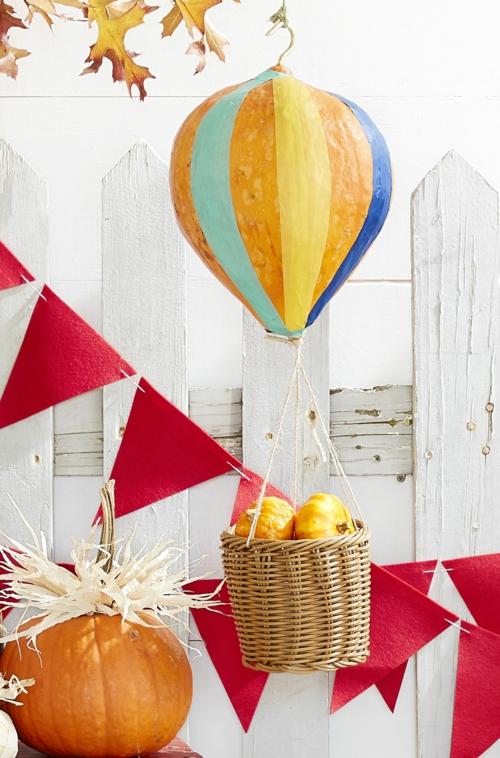 idée activité manuelle automne diy ballon de papier mâché