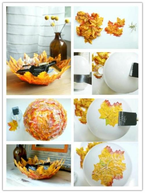 idée activité manuelle automne diy bol de papier mâché