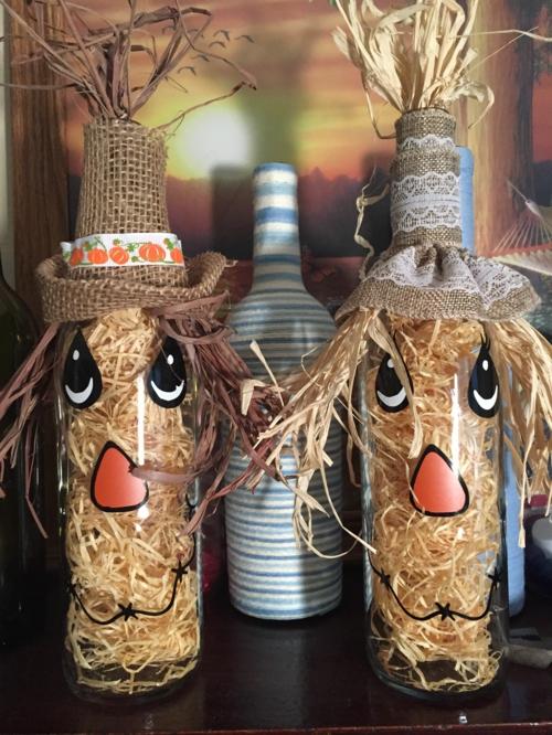 idée activité manuelle automne diy bouteille décorée