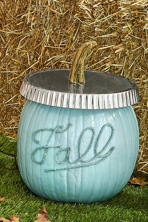 idée activité manuelle automne diy citrouille bocal peint