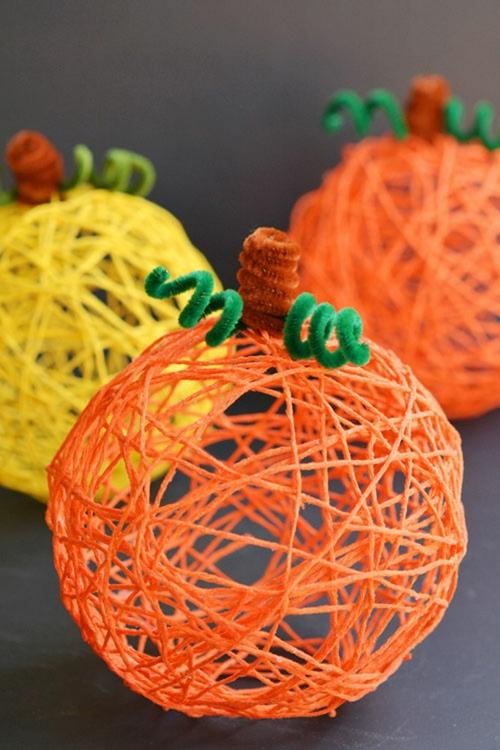 idée activité manuelle automne diy citrouille ficelle