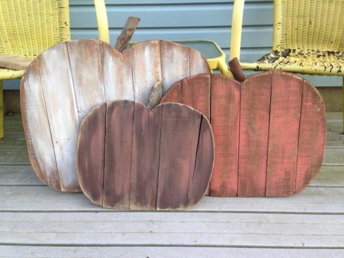 idée activité manuelle automne diy citrouilles en bois