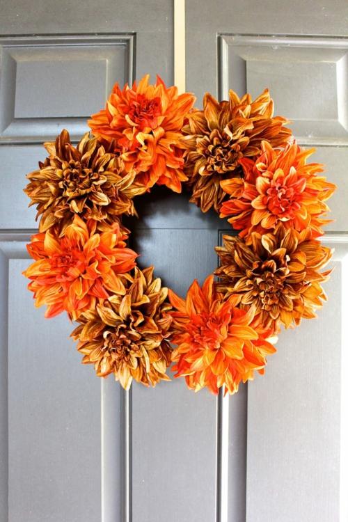 idée activité manuelle automne diy couronne de porte
