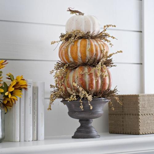 idée activité manuelle automne diy déco cheminée