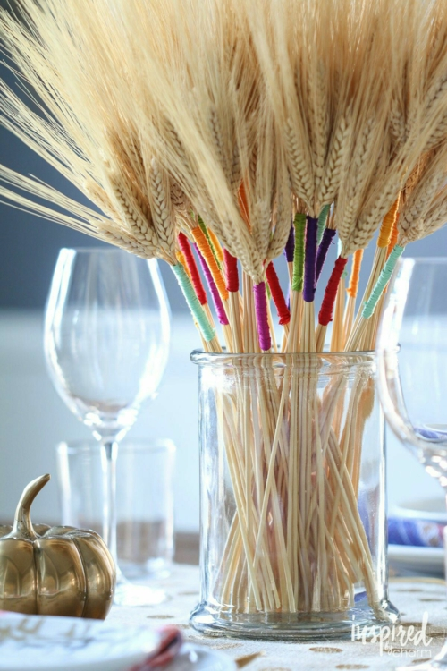 idée activité manuelle automne diy déco d etable épis de blé