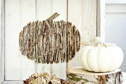 idée activité manuelle automne diy déco murale branchettes