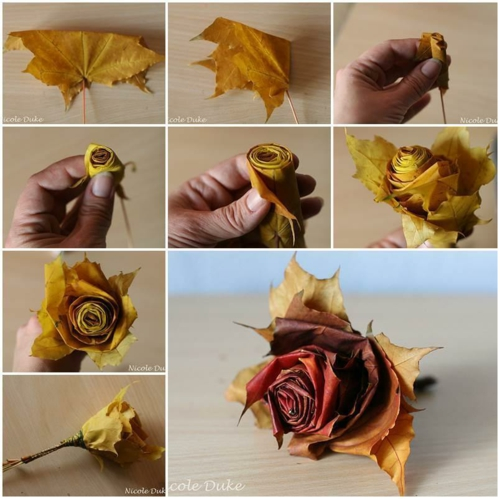 idée activité manuelle automne diy fleur de feuilles