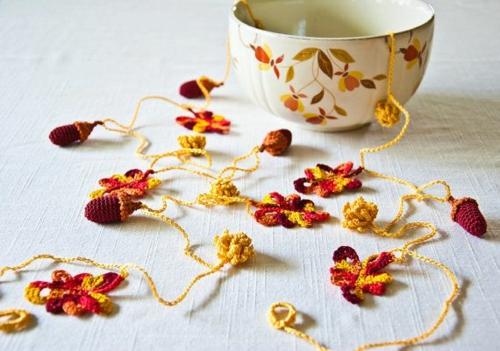 idée activité manuelle automne diy guirlande au crochet