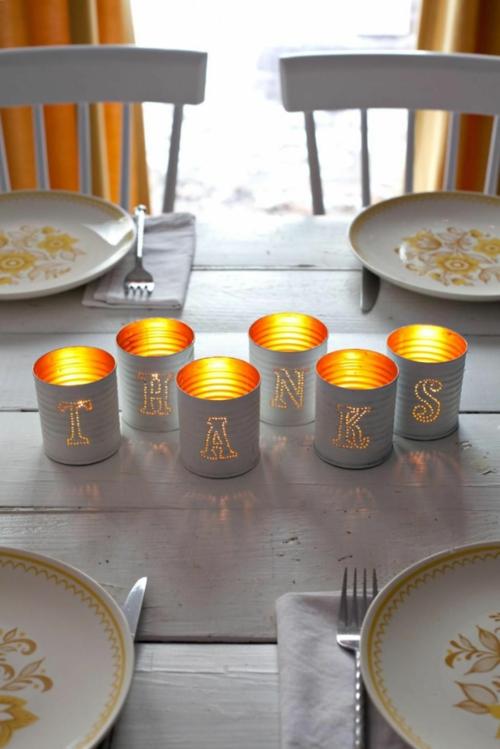 idée activité manuelle automne diy lanternes boîtes de conserve