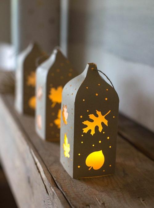 idée activité manuelle automne diy lanternes en papier