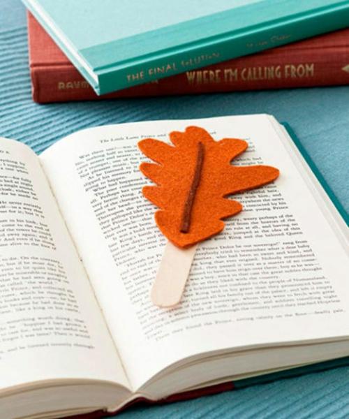 idée activité manuelle automne diy marque-page en feutre