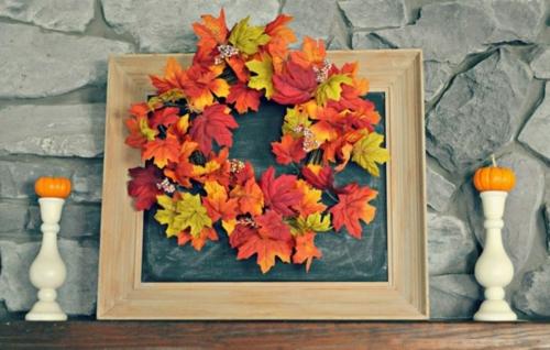 idée activité manuelle automne diy tableau ardoise décoré