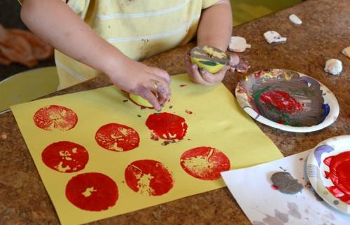 idée activité manuelle automne pour enfants diy empreintes
