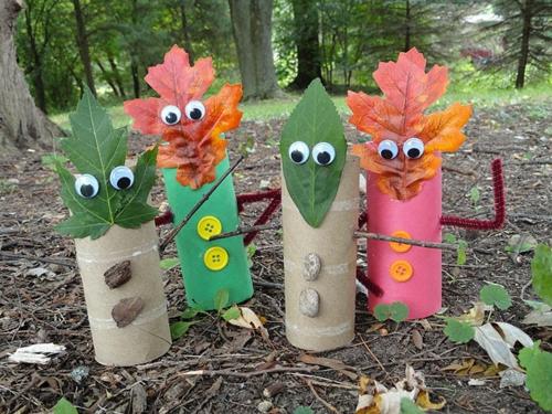idée activité manuelle automne pour enfants rouleaux de papier toilette