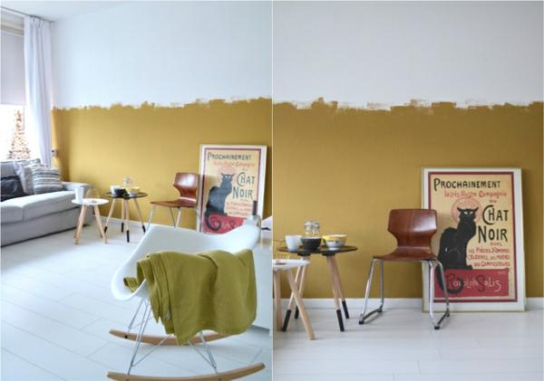 Couleur de peinture tendance 2019 brun miel pic - Wandfarbe rosegold ...