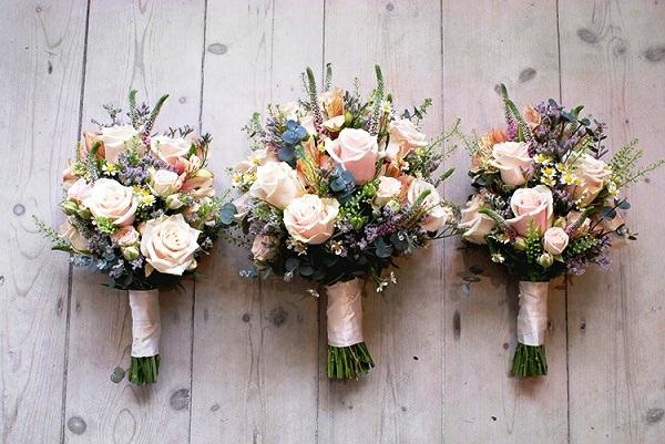 idée de bouquet de mariée artificiel