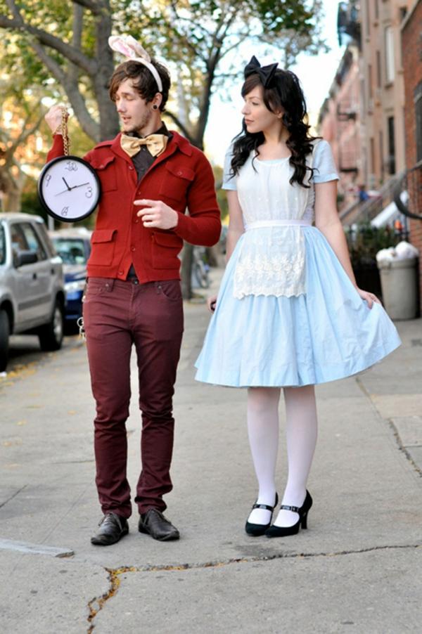 idée de déguisement couple halloween alice au pays des merveilles et le lapin