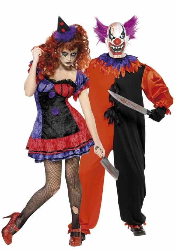 idée de déguisement couple halloween clowns