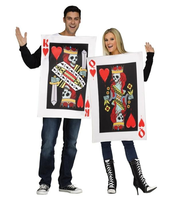 idée de déguisement couple halloween costume carte à jouer