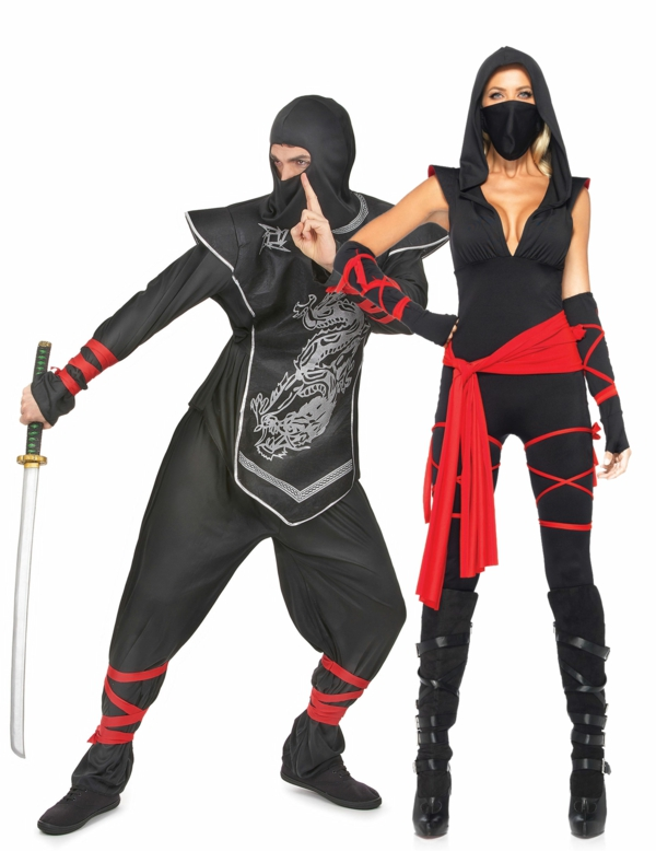 idée de déguisement couple halloween costume ninja