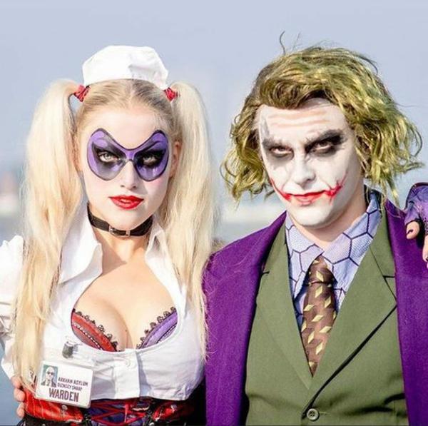 idée de déguisement couple halloween harley queen et le joker