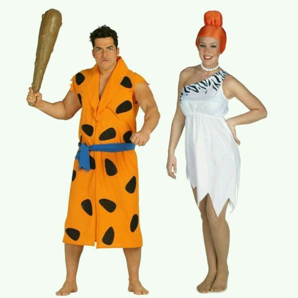idée de déguisement couple halloween la famille flintstone