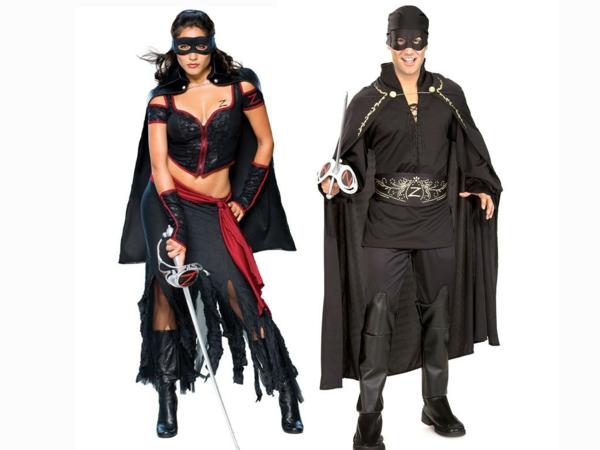 idée de déguisement couple halloween le masque de zorro