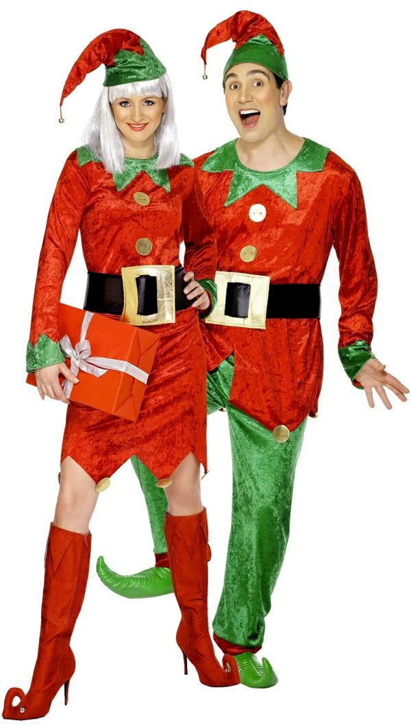 idée de déguisement couple halloween les elfes de père noël