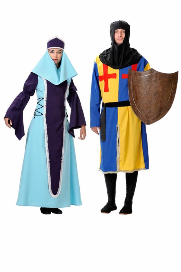 idée de déguisement couple halloween personnages médiévaux
