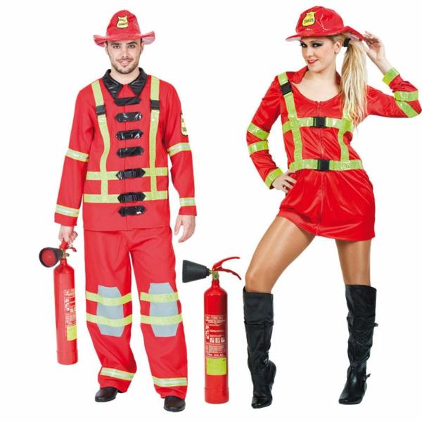idée de déguisement couple halloween pompiers