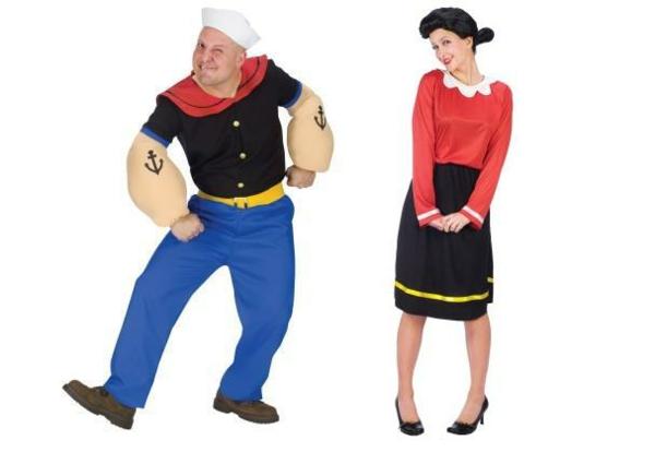 idée de déguisement couple halloween popeye et olivia